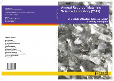 "Annual Report of Materials Science Laboratory (2015) at Institute of Nuclear Sciences ""Vinča"" University of Belgrade"